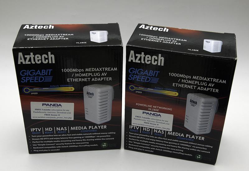 A pair of Aztech HL280E Adapter from Bizgram