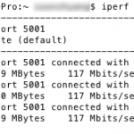 Test 1 – iPerf results