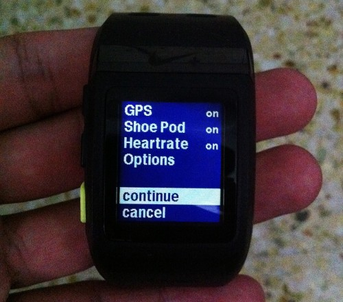 Turn the Heartrate to on during your run