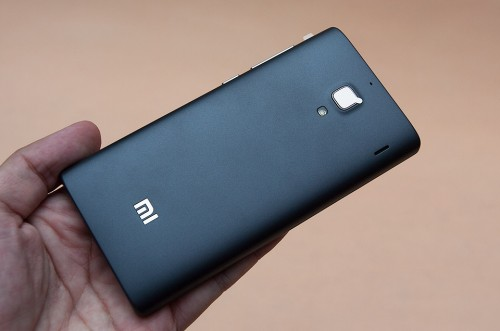 Gray back of the Redmi phone